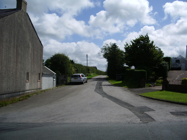 The road to New Hall Farm