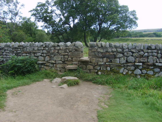 Squeeze stile in drystone wall