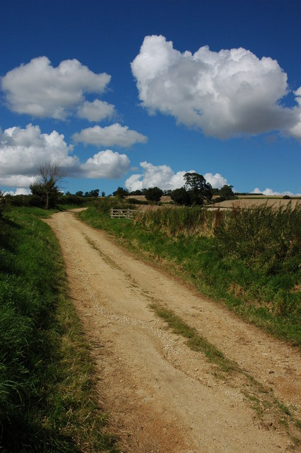 Track and bridleway to Bredon Hill