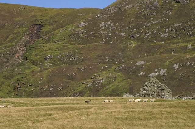 Abandoned croft at Collaster
