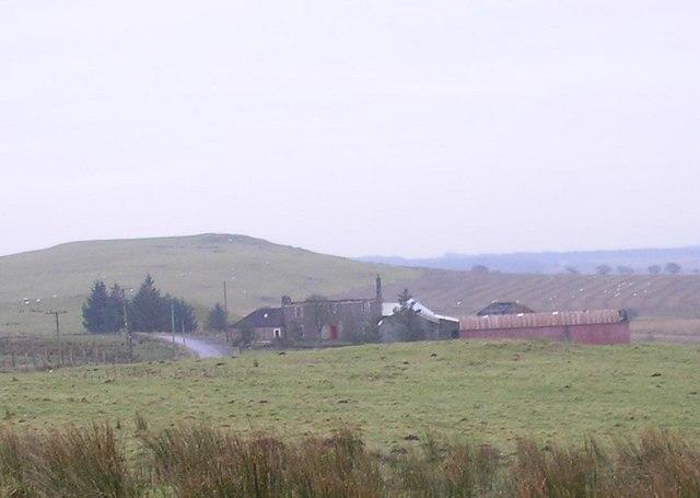 Fire damaged farmhouse