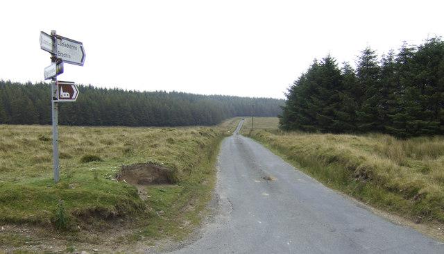 The Brechfa road