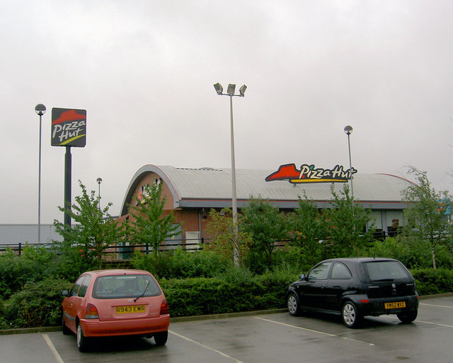 Rear of Pizza hut from Morrison's car park.