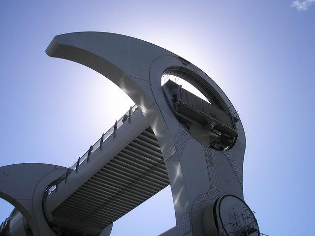 Falkirk Wheel in sunlight