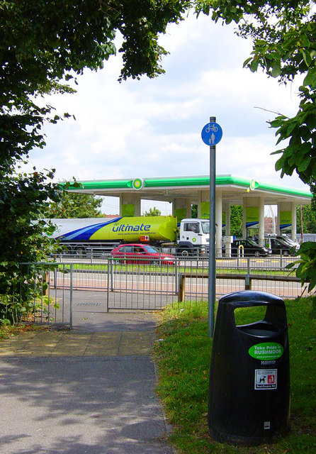 BP Petrol Station on the southbound A325