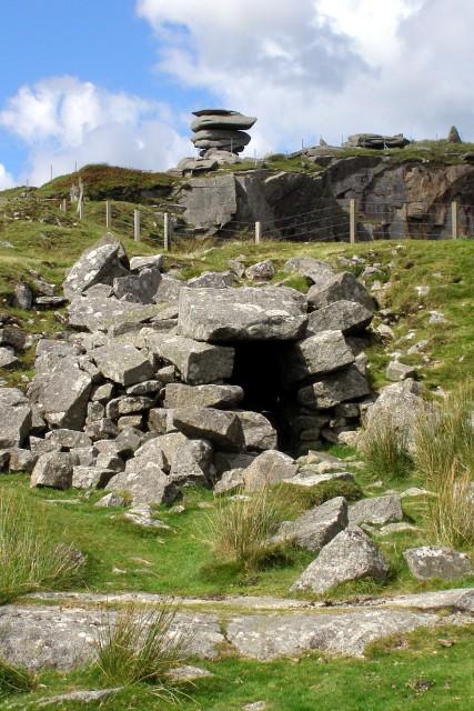 Daniel Gumb's cave, near Cheesewring Quarry