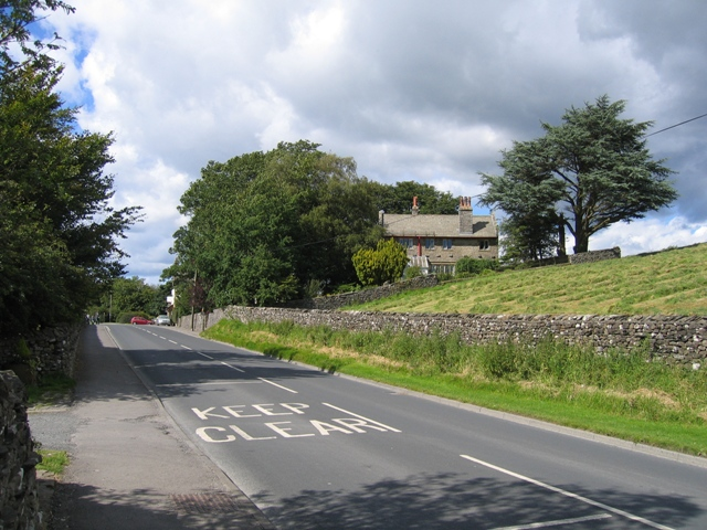 The B6479 through Horton in Ribblesdale