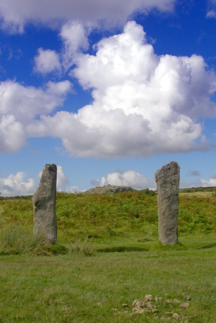 The Pipers - standing stones near the Hurlers