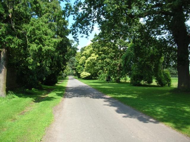 Road past Myton Hall