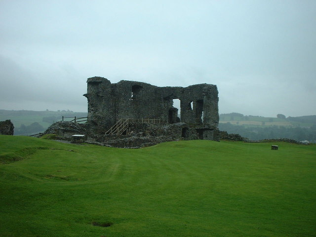 Part of the remains of Kendal Castle