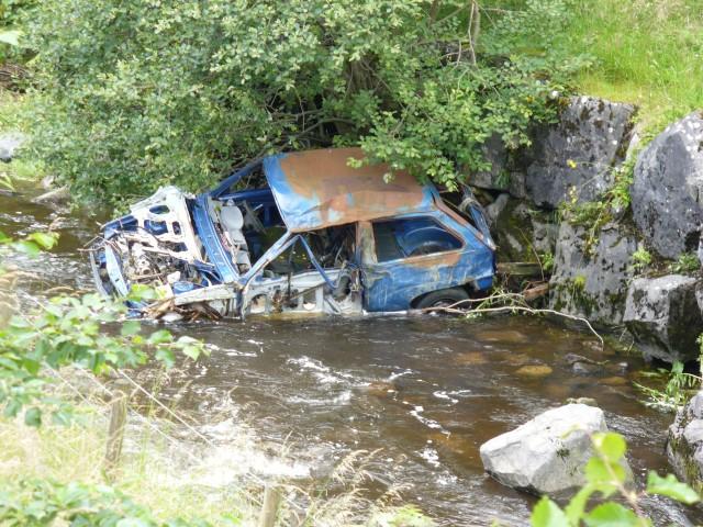 River Rhymney Wreck