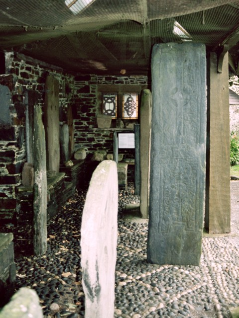 Carved stones, Maughold churchyard