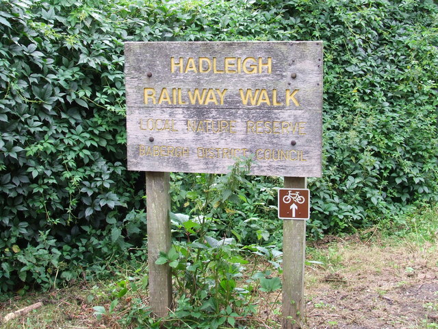 Hadleigh Railway Walk Sign