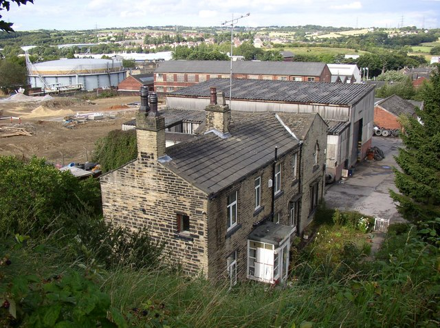 Houses at the top of Heaton Street, Cleckheaton