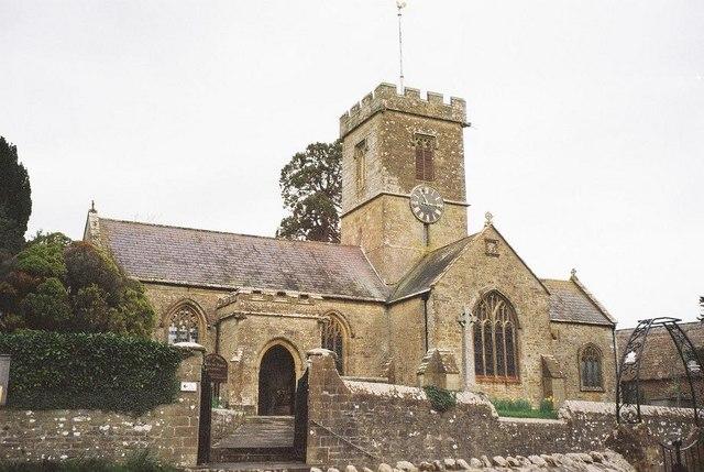 Symondsbury: parish church of St. John the Baptist