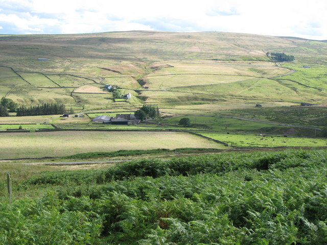 Moorland and pastures near Redburn