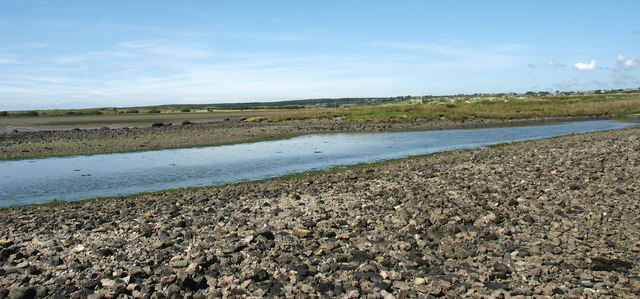 Lagoon to the lee of Ynys Lwm