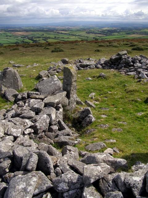 Cairn on Ridge hill, East Moor