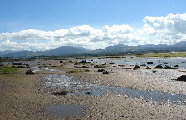 Sandbanks in the estuary of Afon Braint