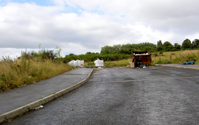End of the road and start of fly tip.