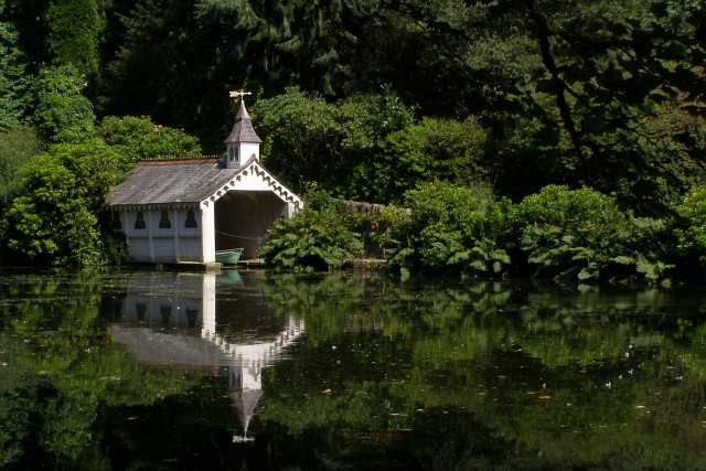 Boathouse and Trevarno Lake