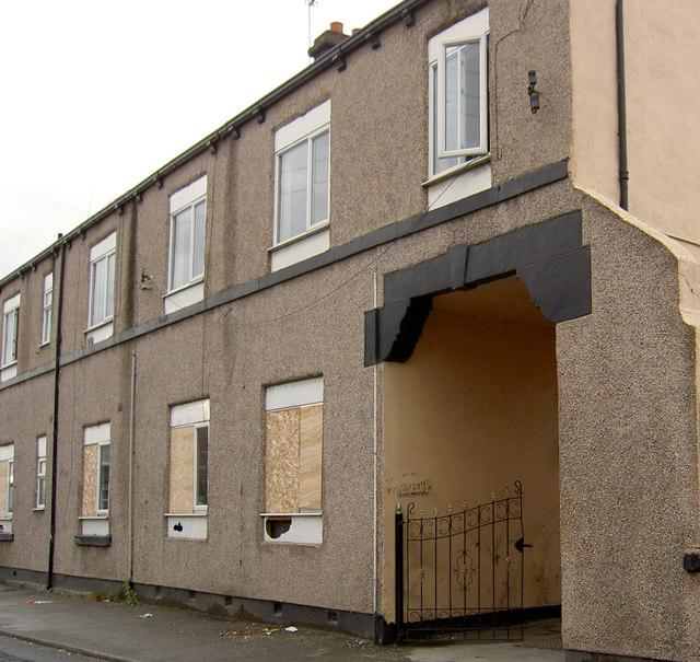 Derelict flats in a regeneration area.