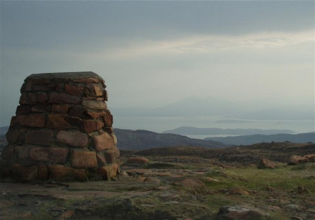 Cairn at the top of the Bealach na Ba