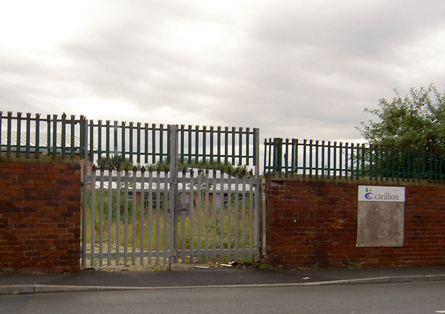 Gates to what was the football pitch, now new school.