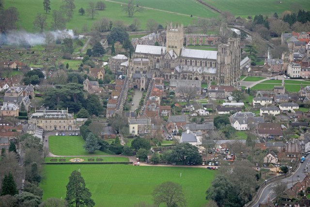 Aerial View of Wells Cathedral