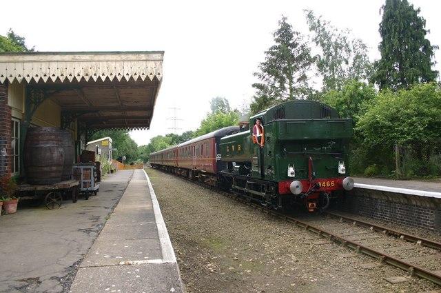 Steam back at Yaxham Station