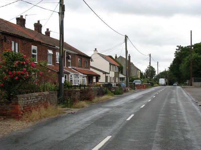 Houses on Aylsham Road (B1145)