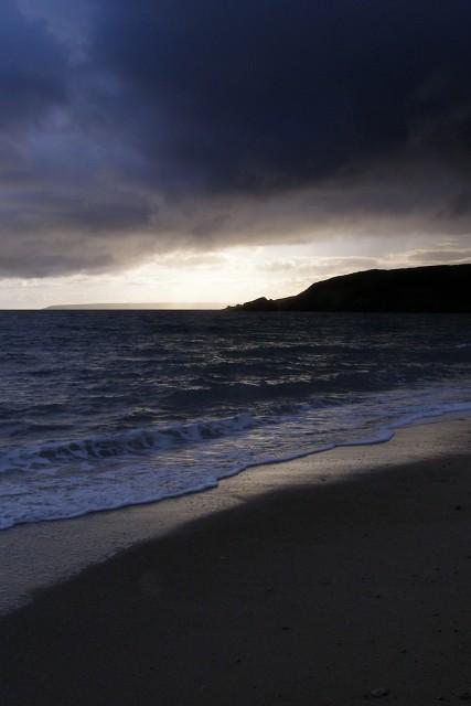 Rain approaching Praa Sands