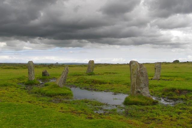 Nine Stones stone circle, East Moor