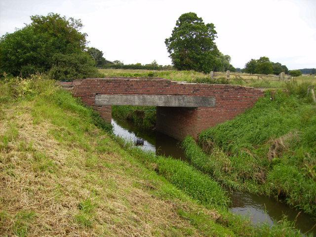 River Foss bridge on track near Brownmoor Farm