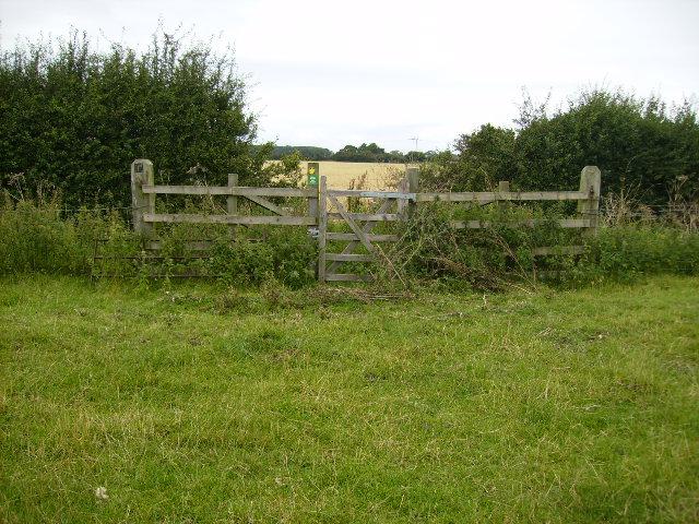 Gate on Foss Way Footpath near Cornborough Farm