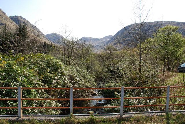 On the bridge over the Allt Charnan