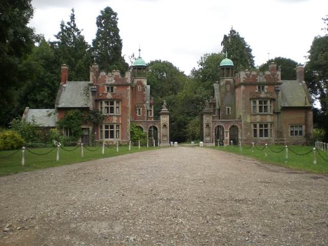 Lodges and gate, Sennowe Hall and Park