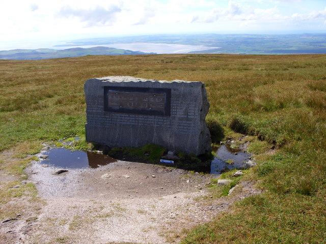 Memorial on the Summit of Cairnsmore of Fleet