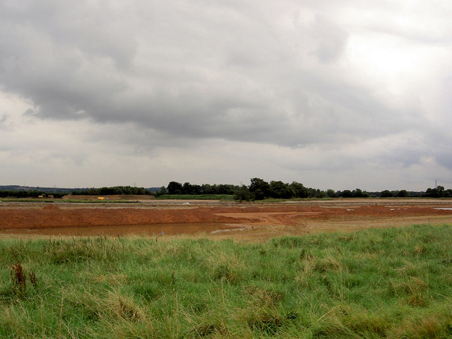 Sand and gravel quarry.