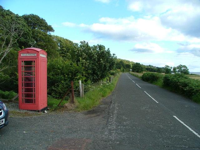 Coulport Telephone Box & B833
