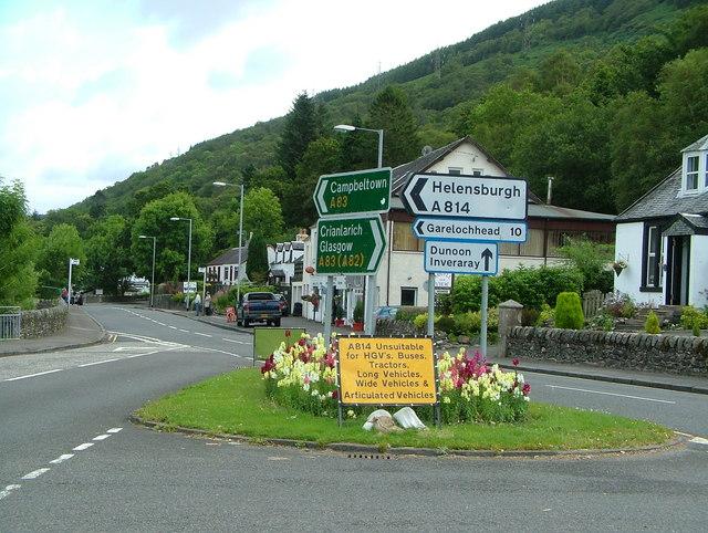 Arrochar village and junction