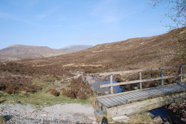 The small bridge over the Allt a' Choire Odhair-mhoir