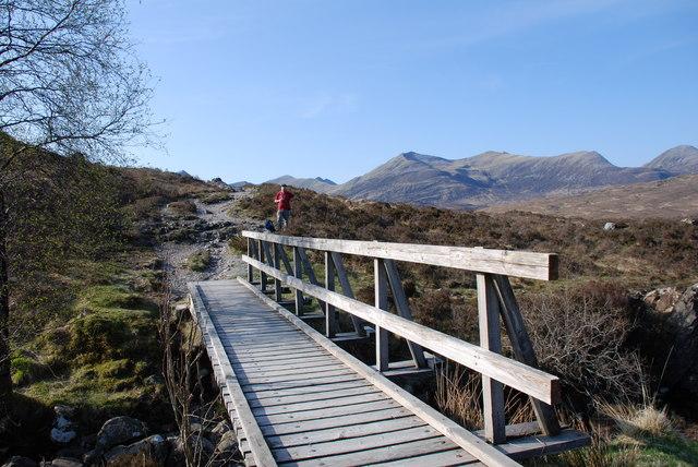 The small bridge over the Allt a' Choire Odhair-mhoir