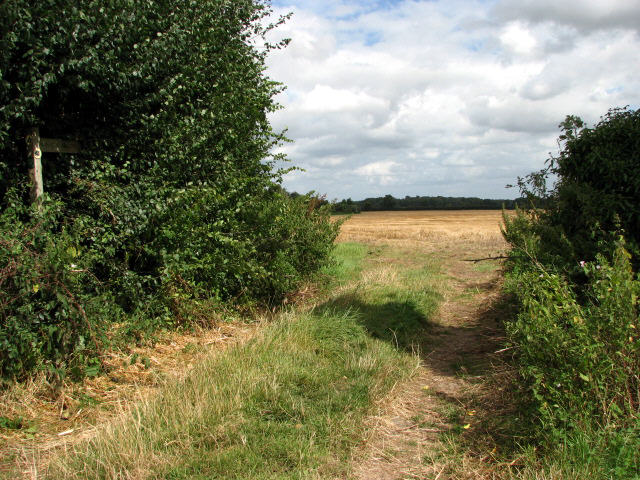 Public Footpath near Honing Row