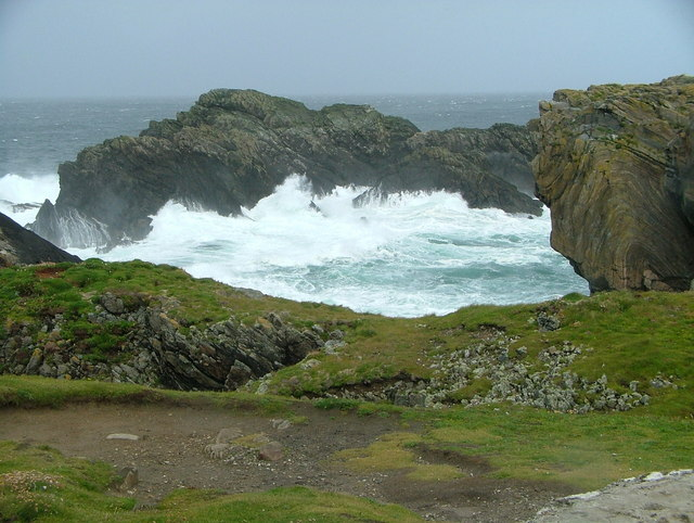 Rough sea at Butt of Lewis Cliffs