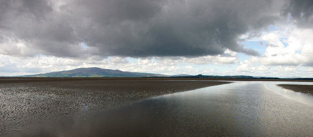 Looking west towards Caerlaverock Nature reserve with Criffel beyond.