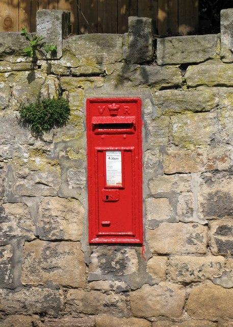 Victorian postbox, Hellpool Lane, Hexham