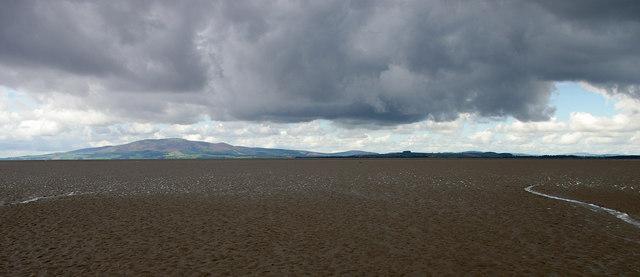 Looking West towards Caerlaverock with Criffel beyond