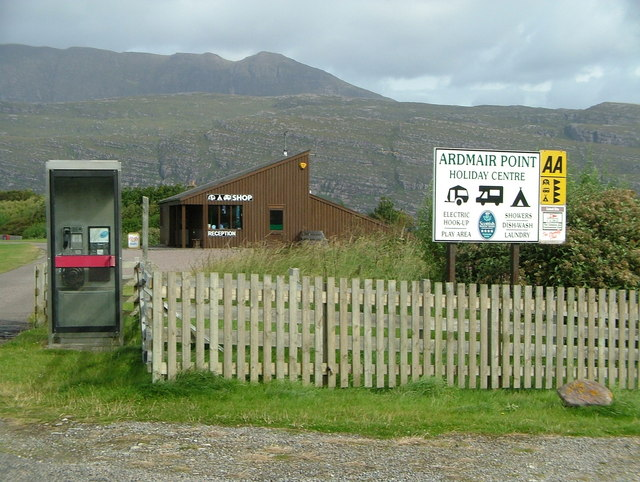 Ardmair Point Holiday Centre & phone box