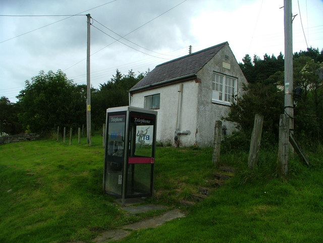 Telephone box & disused exchange